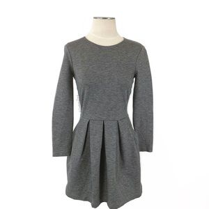 Aritzia- Talula Tartine LS Fit & Flare Gray Dress